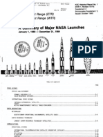 A Summary of Major NASA Launches, January 1, 1980 - December 31, 1984
