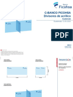 GUATEMALA - FICOHSA - DIVISOR DE ACRÍLICO - GUATEMALA