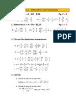 PRACTICA 1 FRACCIONES - OPERACIONES
