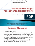 EE 101 Introduction to Project Management & Project Planning