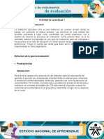 Guía de evaluación Prueva práctica
