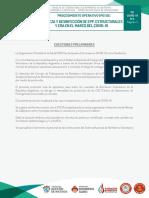 CUO. Protocolo 4. Limpieza y desinfeccion de EPP, Estruturales y ERA