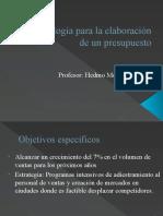 Presupuestos presentación exposición