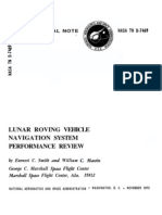 Lunar Roving Vehicle Navigation System Performance Review