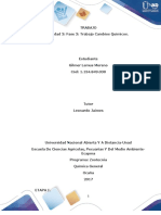 Quimica General  Unidad 3 Fase 3 Trabajo Cambios Químicos