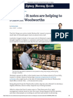 Case Study - Woolworths's reinvention and how Post-It notes are helping (Retail Industry)