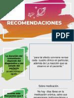 Recomendaciones en psicofarmacologia