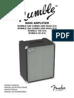 Fender Rumble Manual