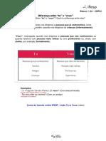 A1 (Básico 1) - dúvidas frequentes