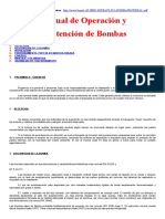 Manual de Operacion y Mantencion de BOMBAS