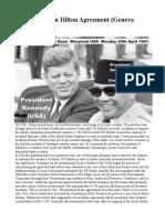 JFK - The Green Hilton Agreement Geneva 1963