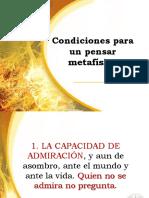 4. Condiciones de Posibilidad