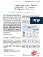 Improved Communication Strategy Based on Optimization Algorithm For Unmanned Multi-Robot Open Area Exploration