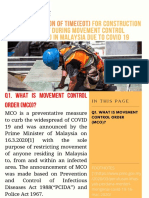 FAQs - EXTENSION OF TIME(EOT) FOR CONSTRUCTION CONTRACT DURING MOVEMENT CONTROL ORDER(MCO) IN MALAYSIA DUE TO COVID 19 (1)