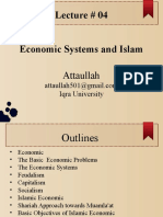 Lec 04- Economical System and Islam