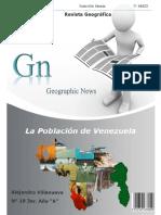 REVISTA HISTORICA La Poblacion de Venezuela  Alejandro Villanueva  Doña Benilde 3ero A N 19