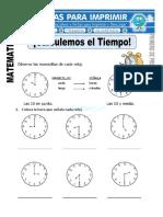 Ficha-de-Calculando-el-Tiempo-para-Primero-de-Primaria
