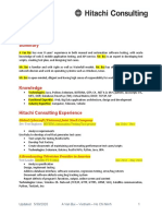 CV Sample (Template With Content)