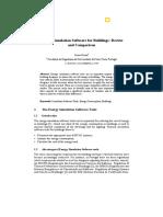 Energy Simulation Softwares