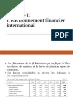 L'environnement  financier international