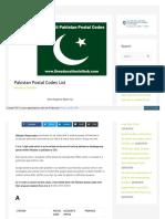 Postal Codes all Pakistan Cities Zip Code / Postcode | Pakistan Postal Codes List  | The Educationist Hub