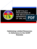 113471051 Proposed BJMP Policy Procedures in the Selection and Designation of Jail Aides