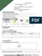 اختبارات السنة الثالثة ابتدائي الفصل الثالث اللغة الفرنسية موقع المنارة التعليمي 2018 (2)