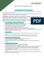 Paraphrasing Worksheet