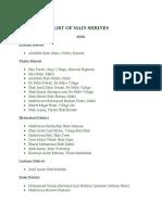List of Shrines