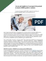 Trastuzumab Deruxtecan può migliorare la prognosi dei pazienti affetti da tumore HER2 positivo o mutato