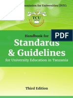 TCU Handbook for Std and Guidelines for U_Education in TZ - 3rd Edition