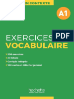 En Contexte - Exercices de Vocabulaire A1