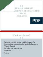 Parsar Bharti Act-1990