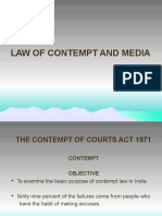 LAW OF CONTEMPT AND MEDIA