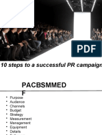 10 steps to a successful PR campaign