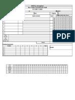 Cricket Scoresheet