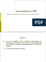 The Press Council Act, 1978