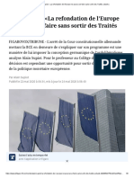 Alain Supiot_ «La Refondation de l'Europe Ne Pourra Se Faire Sans Sortir Des Traités Actuels»