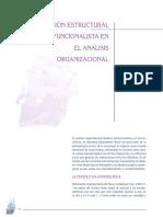 Lectura 3 - La visión estructural -funcionalista en el análisis organizacional