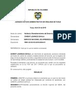 AUTO ADMISORIO DE LA DEMANDA