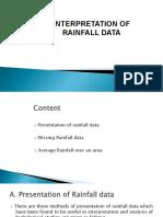 Interpretation of rainfall