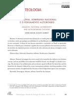 Artigo - Amazônia Soberania Nacional e o Pensamento Autoritario (Publicado)