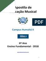 Apostila de Educação Musical 6º Ano 2018 Copia