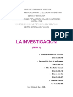 la investigacion tema 2