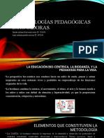 Metodologías pedagógicas innovadoras diapositivas