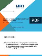 Presentacion Tesis importacion de vino chileno
