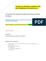 Wardlaws Contemporary Nutrition Updated With 2015 2020 Dietary Guidelines for Americans – Test Bank