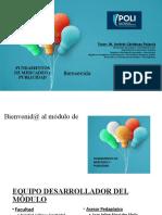 Bienvenida Módulo FMyP - 3-1-2020