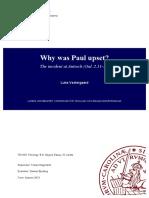 Why was Paul upset? (Gal. 2.11-14)