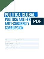 Política Antifraude, Antisoborno y Corrupción - Español